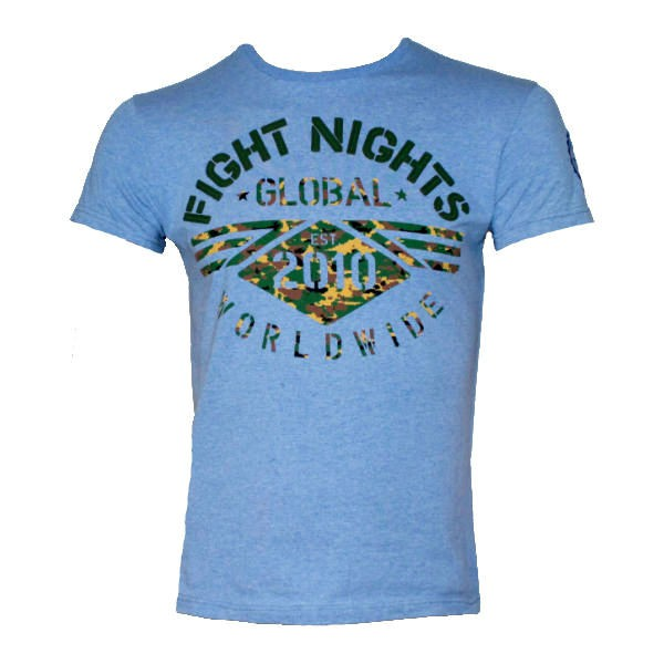 Купить Футболка Fight Nights Global Worldwide голубая (арт. 14212)