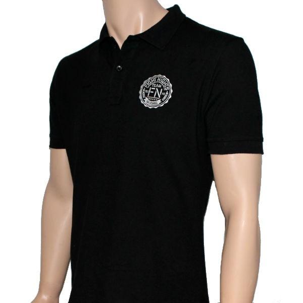 Купить Футболка поло Fight Nights черная (белый логотип) (арт. 14219)