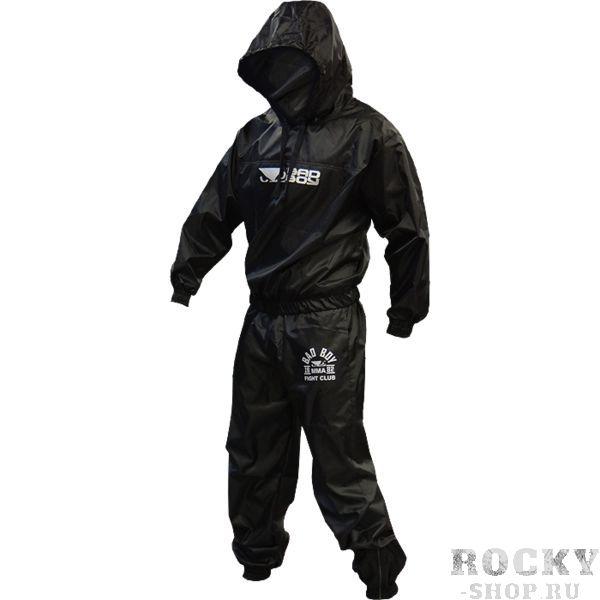 Костюм-сауна Bad Boy Bad BoyКостюмы-сауны<br>Костюм-сауна Bad Boy для сгона веса. Тренировочный костюм-сауна костюм является отличным способом, чтобы быстро скинуть вес. Костюм позволяет использовать естественное тепло тела, вырабатываемое на тренировке, для вывода жидкости и усиления метаболизма. Костюм-сауна Bad Boy выполнен из синтетической ткани. Эластичный пояс, манжеты на руках и лодыжках дают больший эффект сауны.<br>