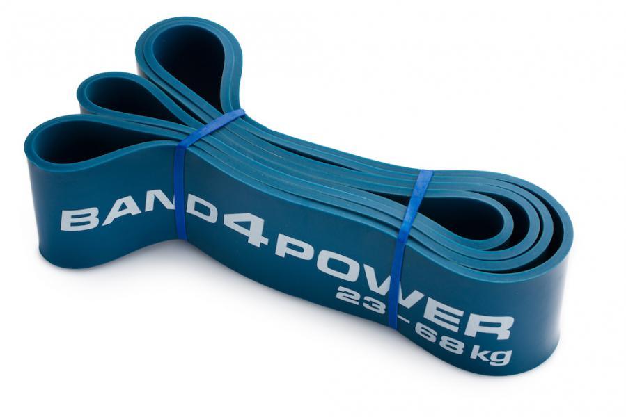 Синяя резиновая петля, 23-68 кг Band4PowerАксессуары для фитнеса<br>Синяя резиновая петля!Отличный снаряд, который прекрасно развивает мышцы ног и спины, благодаря возможности качественно выполнять с ним становую тягу и приседания. &amp;nbsp;Начиная с синей петли и далее - нагрузка существенно возрастает. Синяя петля - первая в наборе, которая имеет сильное сопротивление. !<br>Нагрузка 23-68 кг<br><br>Вес 0. 56 кг<br><br>Длина 104 см<br><br>Толщина 4. 5 мм<br><br>Ширина 63 мм<br>
