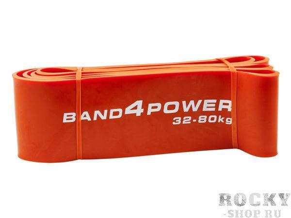 Оранжевая резиновая петля, 32-80 кг Band4PowerАксессуары для фитнеса<br>Оранжевая резиновая петля прекрасно подходит для базовых упражнений: жим, присед и становая, - а также для выбеганий, взрывных рывков и отработок ударов с сопротивлением. Очень физически сильные люди могут использовать эту петлю также в качестве отягощения на бицепс. <br>Нагрузка 32-80 кг<br><br>Вес 0. 73 кг<br><br>Длина 104 см<br><br>Толщина 4. 5 мм<br><br>Ширина 83 мм<br>