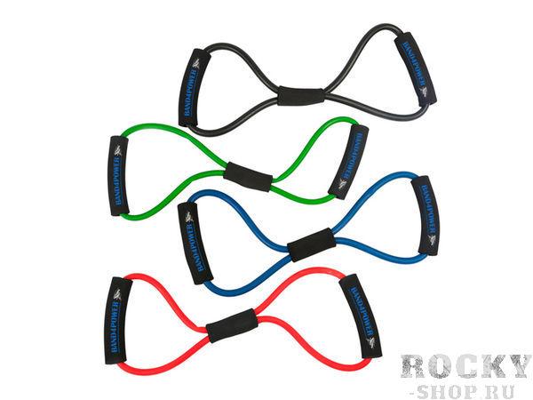 Комплект из 4 эспандеров восьмерка Band4PowerЭспандеры<br>Набор эспандеров восьмерка предназначены для тренировок всего тела! Упражнения для верха тела и низа тела!<br>Уникальные эспандеры восьмерка. В комплекте 4 штуки с разной нагрузкой:<br><br>- слабая<br><br>- легкая<br><br>- средняя<br><br>- сильная<br>