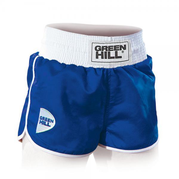 Женские шорты для бокса  LUCY, Синие Green HillШорты для бокса<br>Трусы для бокса женские GREEN HILL LUCYМатериал: атласный полиэстер; Страна производитель: Пакистан;<br><br>Размер INT: XL