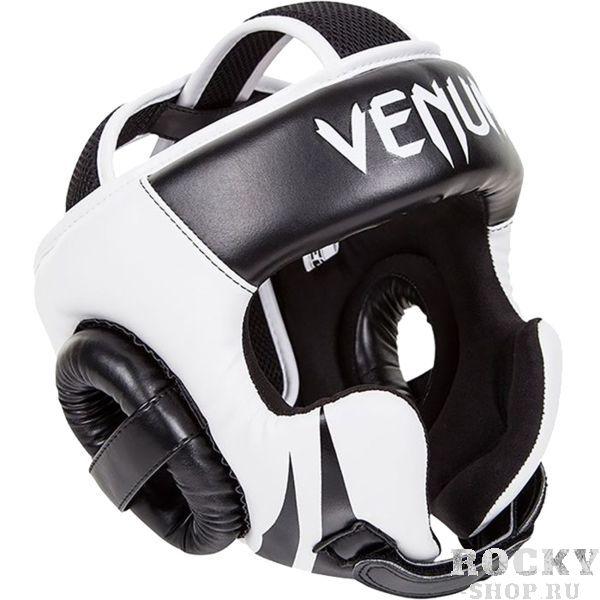 Боксерский шлем Venum Challenger VenumБоксерские шлемы<br>Шлем боксерский Venum Challenger 2.0. Очень мягкая, приятная тканевая подкладка. Рисунок на липучке сделан методом штамповки. Специальный наполнитель(пена) обеспечивает максимальную амортизацию при ударе, а соответственно защищает лицо(голову). Помимо защиты самой головы, шлем так же защищает  щеки и уши. Отличное соотношение цена/качество. Размер универсальный. Крепление- двойная застежка на задней части шлема. Полная защита головы, скул, ушей. сделано в Тайланде.<br>