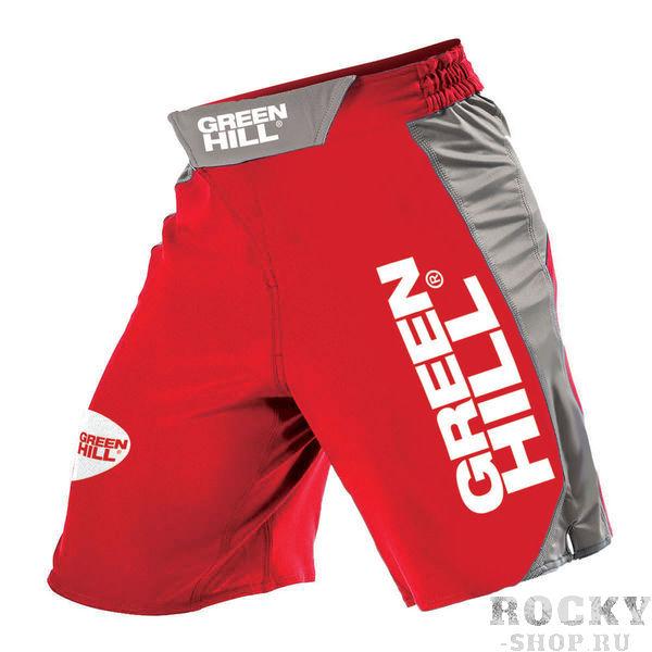 Шорты для MMA Green Hill, Красные Green HillШорты ММА<br>Высококачественные шорты MMA выполнены из полиэстера высокой плотности. По бокам расположены вставки из лайкры для обеспечения эластичности и защиты от разрыва шорт при работе ногами и борьбе. Липучка по центру и шнуровка позволяют регулировать размер шорт и обеспечивают надежную посадку.<br><br>Размер INT: S