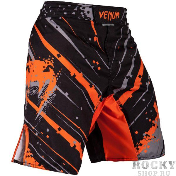 Купить Шорты ММА Venum Pixel - Black/Grey/Orange PSn-venshorts0269