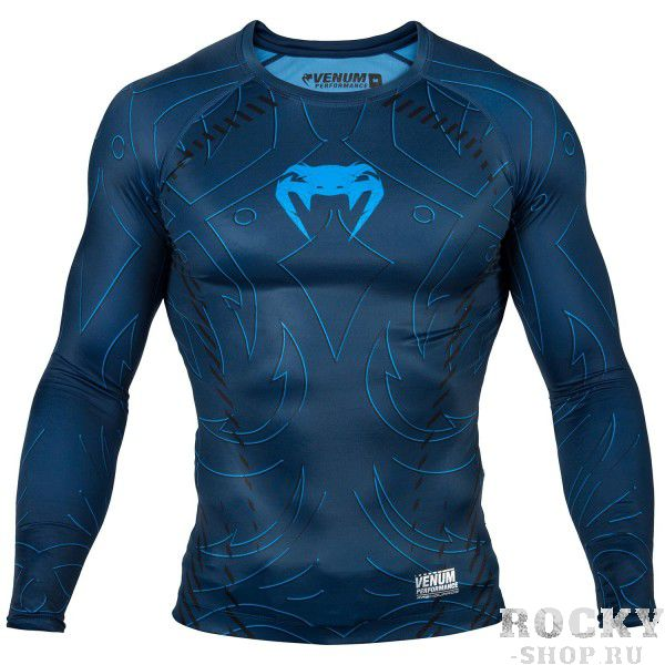 Рашгард Venum Nightcrawler L/S - Navy Blue Venum