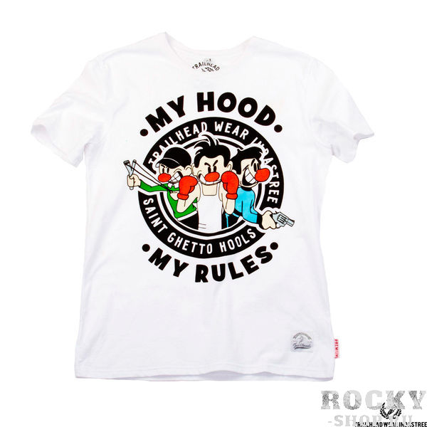 Футболка Trailhead MY HOOD MY RULES White TrailheadФутболки / Майки / Поло<br><br>