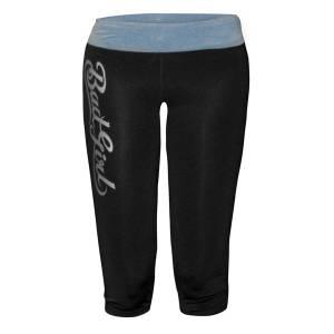 Компрессионные штаны Bad Boy женские Capri Tights Black Blue Bad BoyКомпрессионные штаны / шорты<br>Компрессионные штаны Bad Boy женские Capri Tights Black Blue— изящная модель подойдет абсолютно для любых занятий спортом или единоборствами. Вам будет комфортно и безопасно заниматься в этих штанах, так как они сделаны из мягкого и эластичного полиэстера, с добавлением антибактериальной пропитки. Компрессионные штаны выводят влагу наружу, оставляя тело сухим. Еще одна особенность штанов-компрессия, создаваемая плотной тканью, улучшающая кровообращение. Это способствует повышению пластичности вашего тела. Можно стирать в стиральной машинке.Состав: 90% полиэстер, 10% спандекс<br>