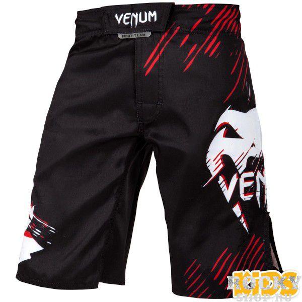 Детская экипировка для MMA Шорты детские Venum Contender Kids Black/Red VenumДля MMA<br>Шорты детские Venum Contender Kids Black/Red обеспечат мобильность и комфорт для детей в возрасте от 8 до 14 лет.Все современные технологии Venum внедрены в эти шорты.Изготовлены из прочного волокна, легкого, с хорошей воздухопроницаемостью.Застежка с быстрыми липучками, а также регулировочный шнурок.Сублимированный в ткань дизайн, который не оставит равнодушным никого вокруг!Особенности:- 100% полиэстер- застежка на липучке + шнурок- дизайн сублимирован в волокно- усиленные швы- боковые отверстия для вентиляции- сделано в Китае<br>