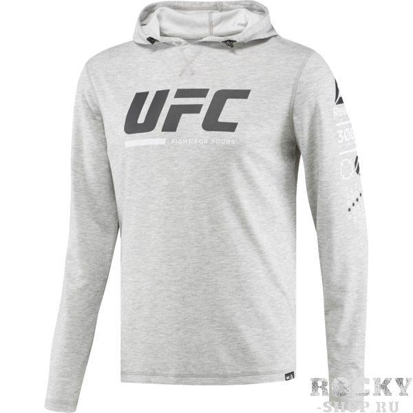 Худи Reebok UFC FG ReebokТолстовки / Олимпийки<br>Худи Reebok UFC FG. Капюшон на шнурке для дополнительной защиты от холода. Уход: машинная стирка в холодной воде, деликатный отжим, не отбеливать. Состав: 76% полиэстер, 24% вискоза.<br><br>Размер INT: L