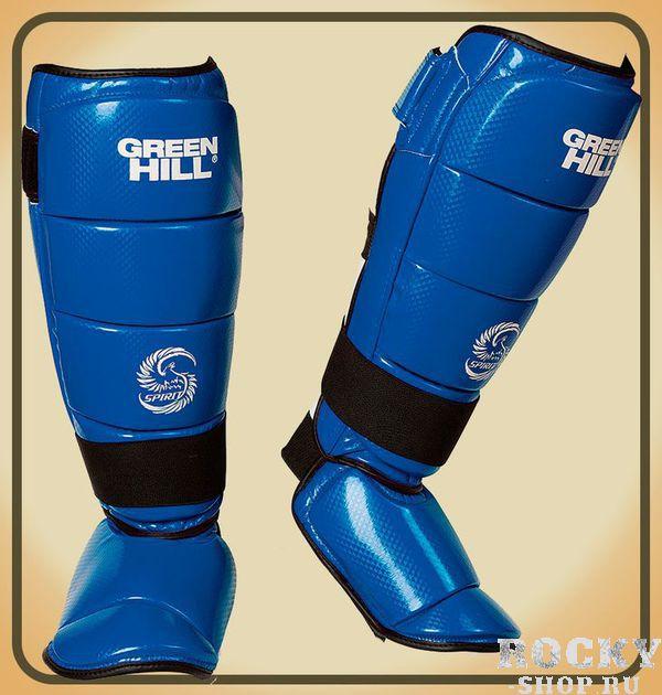 Защита голени и стопы Green Hill SPIRIT, синяя Green HillЗащита тела<br>Защита голень+стопа SPIRIT выполнена из искусственной 3D кожи. Секционая горизонтальная конструкция защиты обеспечивает плотную посадку на ногу.<br><br>Размер: M