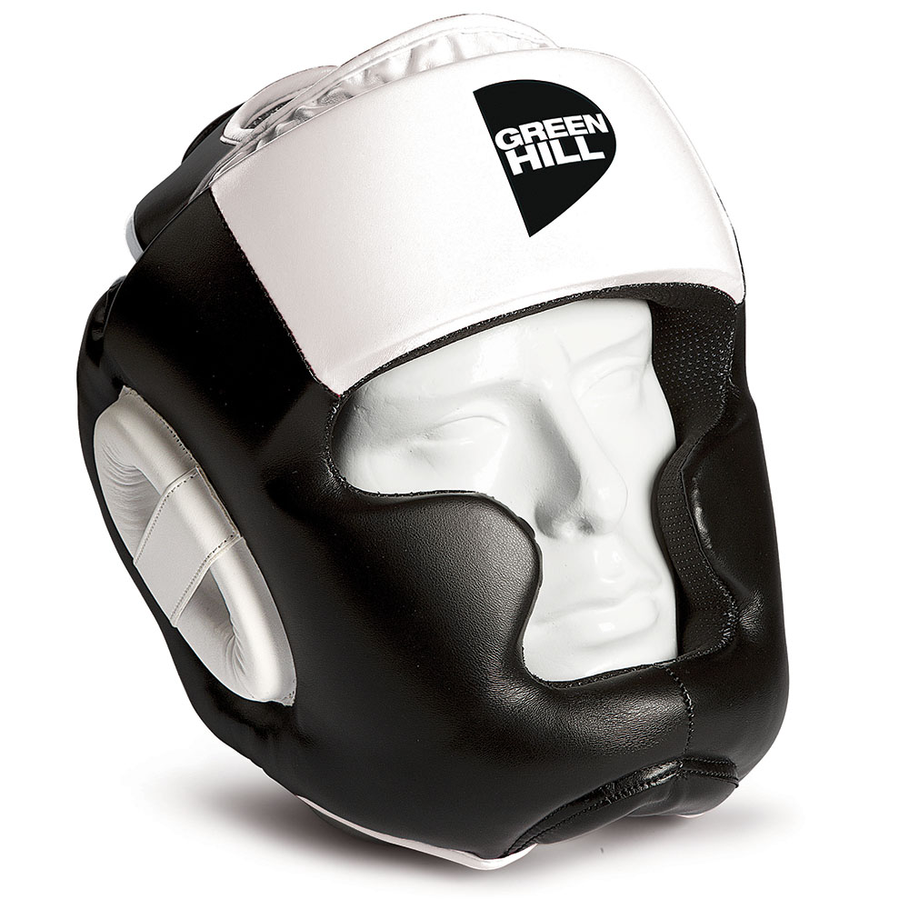 Купить Шлем для тайского бокса gh poise Green Hill черный-белый (арт. 14688)