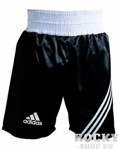 Боксерские шорты Adidas MULTI BOXING, черные AdidasШорты для бокса<br>Шорты для тренировок и соревнований.<br><br>Размер INT: L