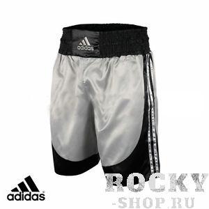 Боксерские шорты Adidas, серебристые AdidasШорты для бокса<br>Удобные шорты для тренировок.<br>