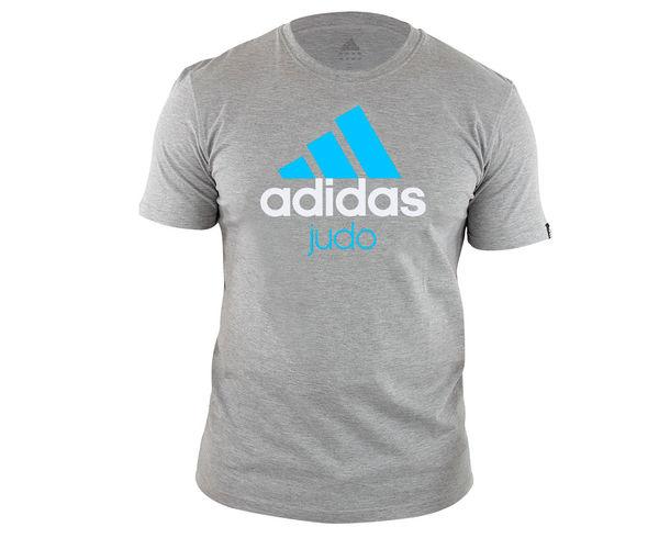 Футболка Community T-Shirt Judo серо-синяя Adidas adiCTJ (арт. 14720)  - купить со скидкой