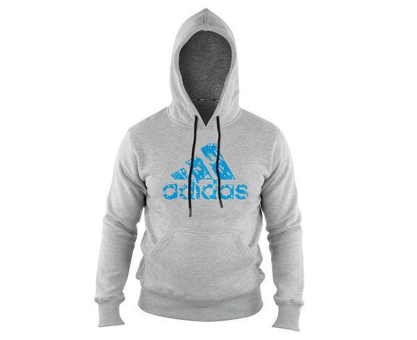 Толстовка с капюшоном (Худи) детская Graphic Hoody Kids серо-синяя Adidas