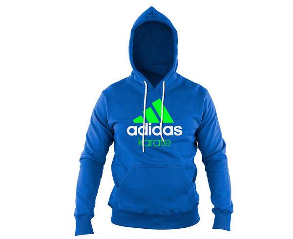 Толстовка с капюшоном (Худи) детская Community Hoody Karate Kids сине-зеленая Adidas
