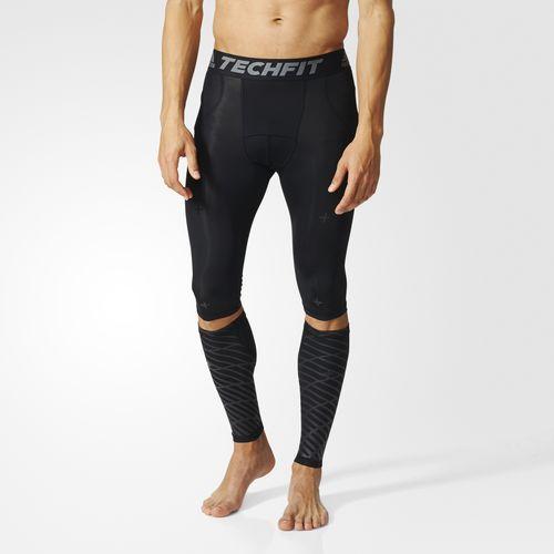 Купить Леггинсы и бандаж на голень компрессионные Techfit Recovery 3 in 1 черные Adidas (арт. 14745)