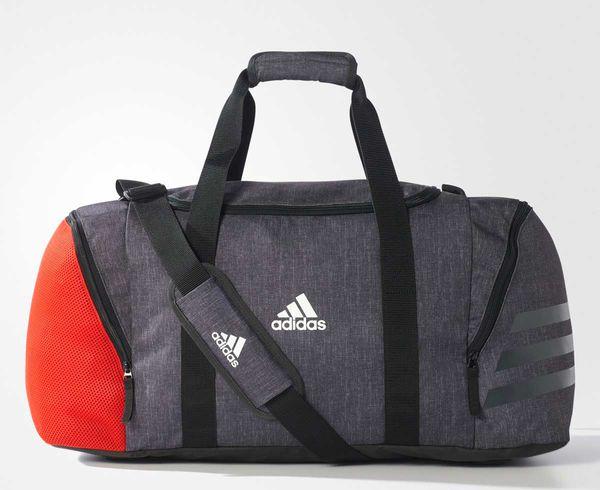 Купить Сумка спортивная Ace 17.2 Teambag M серо-красная Adidas (арт. 14767)