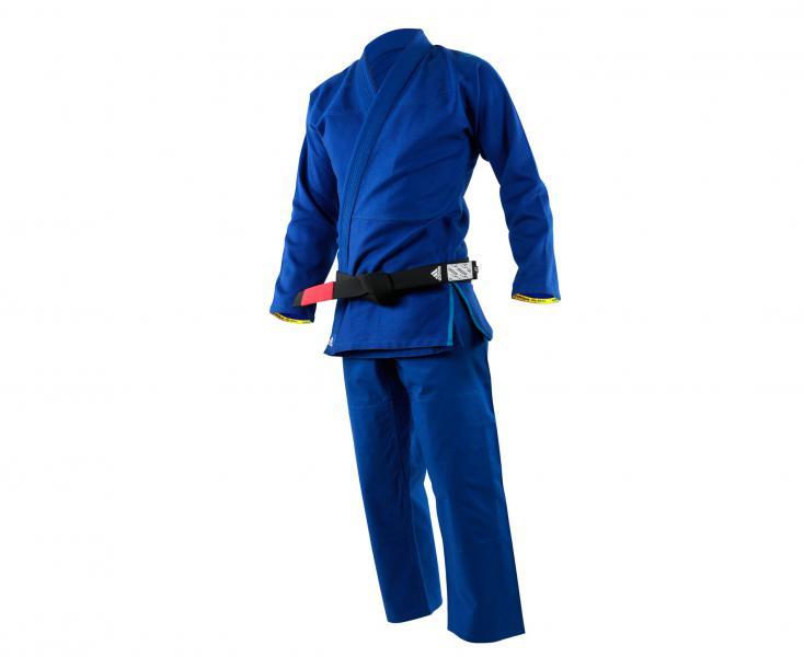 Кимоно для джиу-джитсу Challenge 2.0 синее AdidasЭкипировка для Джиу-джитсу<br>Кимоно (ГИ) для джиу-джитсу CHALLENGE 2. 0 JJ350_2. 0. ОтличноеГИ,специально разработано для любителей и профессионалов. Сделано из плотного и прочного 100% натурального хлопка высшего качества, плотностью 350g/m2. Куртка сшита из целого куска ткани, без шва на спине, тем самым обеспечивается прочность, комфорт и долговечность ГИ. Модель состоит из куртки и брюк. Детали: приталенная куртка,усиленные места в областях с высокой нагрузкой, вышитый логотип adidas на плече,брюки на кулиске из нейлонового шнурка с тремя полосам по бокам до середины бедра и крупным логотипом на штанине, двойное усиление ткани в местах колен. *ГИидет без пояса. Пояс продается отдельно. Подходит для любого уровня спортсмена. Непревзойденное качество, долговечность и комфортПлотная, гибкая и прочная ткань. Специально усиленные места в областях с высокой нагрузкой. Плотность: 350 g/m2Материал: 100% хлопок высшего качестваУсиленный ворот. Идеально сочетание цены и качества!<br><br>Размер: A1