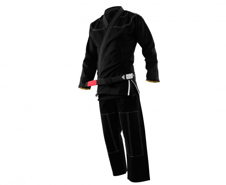 Кимоно для джиу-джитсу Challenge 2.0 черное AdidasЭкипировка для Джиу-джитсу<br>Кимоно (ГИ) для джиу-джитсу CHALLENGE 2.0 JJ350_2.0.ОтличноеГИ,специально разработано для любителей и профессионалов.Сделано из плотного и прочного 100% натурального хлопка высшего качества, плотностью 350g/m2. Куртка сшита из целого куска ткани, без шва на спине, тем самым обеспечивается прочность, комфорт и долговечность ГИ.Модель состоит из куртки и брюк. Детали: приталенная куртка,усиленные места в областях с высокой нагрузкой, вышитый логотип adidas на плече,брюки на кулиске из нейлонового шнурка с тремя полосам по бокам до середины бедра и крупным логотипом на штанине, двойное усиление ткани в местах колен. *ГИидет без пояса. Пояс продается отдельно. Подходит для любого уровня спортсмена.Непревзойденное качество, долговечность и комфортПлотная, гибкая и прочная ткань.Специально усиленные места в областях с высокой нагрузкой.Плотность: 350 g/m2Материал: 100% хлопок высшего качестваУсиленный ворот.Идеально сочетание цены и качества!<br>