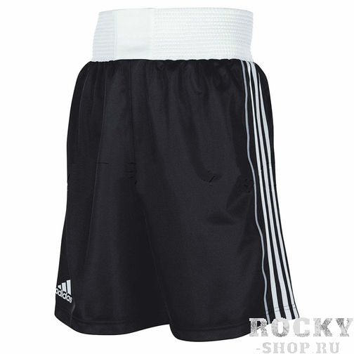 Шорты для бокса Adidas B8, черные AdidasШорты для бокса<br>Легкие и удобные шорты Adidas для бокса. Подходят для тренировок и неофициальных соревнований.<br><br>Размер INT: L