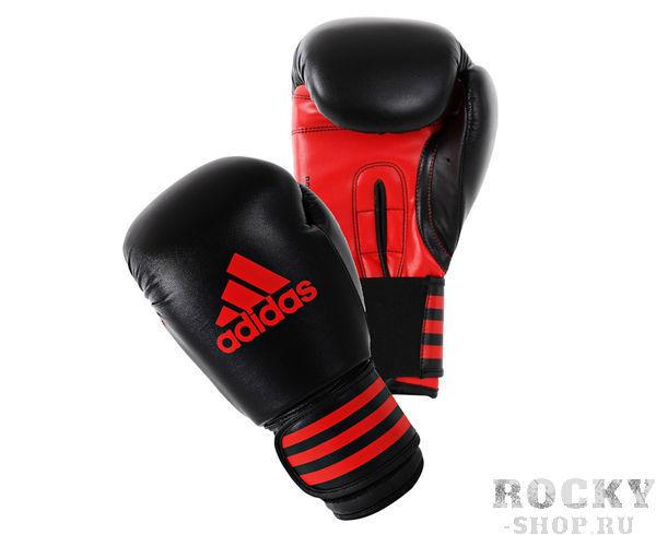 Купить Перчатки боксерские Power 100 черно-красные Adidas 14 oz (арт. 14780)