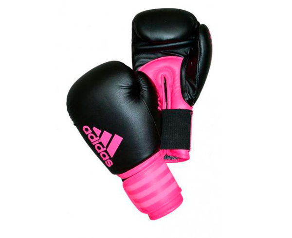 Детские перчатки боксерские Hybrid 100 Dynamic Fit черно-розовые, 8 унций Adidas