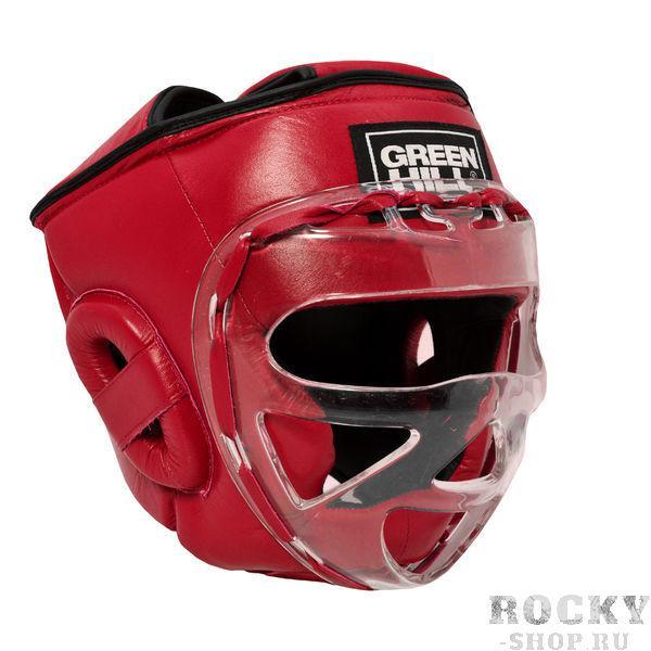 Детский боксерский шлем SAFE на шнуровке, Красный Green HillДля бокса<br>Боевой и тренировочный шлем. Сделан из высококачественной натуральной кожи. Усиленная защита в областиушей, и подбородка. Лицо защищает пластиковая маска. Размер:При подборе шлема следует также учесть, что размеры шлемов можно регулировать за счет шнуровки. Для выбора шлемов, ориентируйтесь на следующие данные:охват головы - размер48-53 см - S54-56 см - М57-60 см – L61-63 см - XL<br><br>Размер: XS