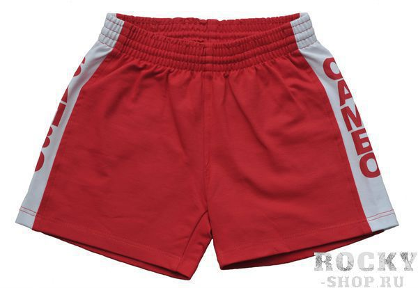 Детские детские шорты самбо, лицензия фср, красные, Красный Green Hill