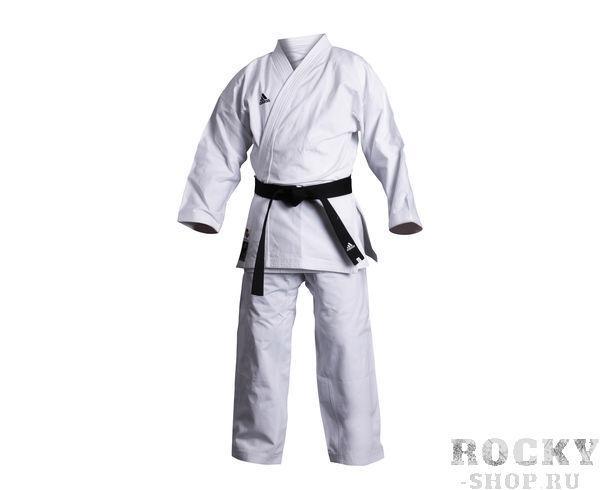 Детское кимоно для карате Elite European Cut WKF белое, 155 см Adidas