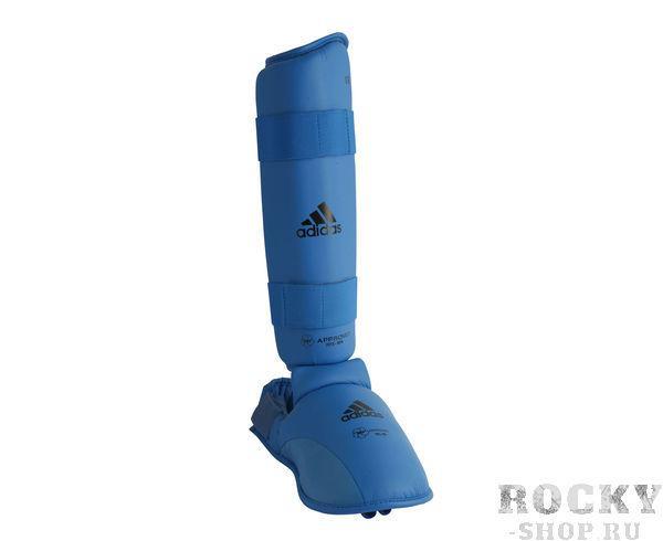 Детские защита голени и стопы WKF Shin & Removable Foot, синяя Adidas фото