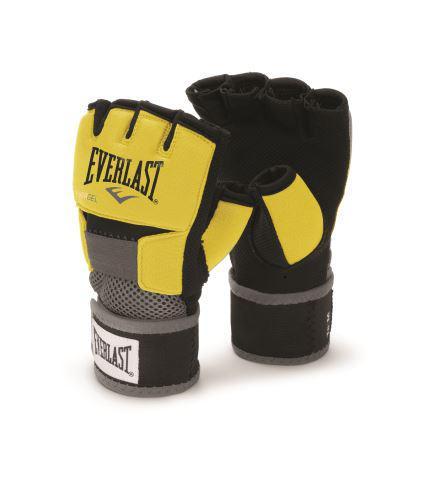 Боксерские бинты Everlast, гелевые, размер M, M EverlastБоксерские бинты<br>Боксерские тренировочные перчатки с гелевой прокладкой. Ключевые особенности:Инновационная спецтехнология Evergel™, которая не исключительно гарантирует прекрасную смягчение ударов, но и защищает суставы пальцев при тренировках. Обмотки с застежкой на липучке позволяют кастомизировать перчатки по вашей руке, а также обеспечивают самую высокую фиксацию предплечья. Улучшенный дизайн усиливает долговечность и функциональность, в то же в ходе облегчая использование перчаток.<br><br>Цвет: черные