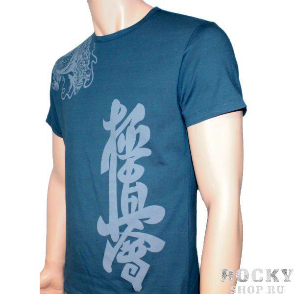 Футболка Fight Nights Киокусинкай, синяя Fight NightsФутболки<br>Поклонникам карате Киокушинкай посвящается. . . . .<br><br>Размер INT: S