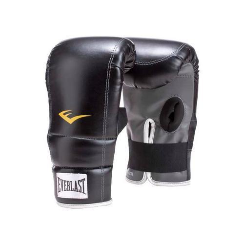 Перчатки снарядные Everlast PU EverlastCнарядные перчатки<br>Боксерские снарядные перчатки для активных занятий спортом. Дизайн без большого пальца облегчает вес перчаток, а пенистый уплотнитель на ладони гарантирует экстра защиту в ходе упражнений. Изготовлены из добротной искусственной кожи и оснащены эластичным фиксатором для простоты одевания.<br>