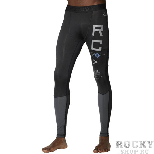 Компрессионные леггинсы Reebok ReebokКомпрессионные штаны / шорты<br>Компрессионные брюки Reebok Combat. Тренируйся без остановки в этих удобных компрессионных брюках. Они гарантируют отличную поддержку и снимают мышечное напряжение. Технология Speedwick отводит влагу с поверхности тела, а сетчатые вставки обеспечивают эффективную вентиляцию. Материал: переработанный полиэстер, ткань двойного плетения. Использование переработанного полиэстера позволяет сохранить природные ресурсы и уменьшить выбросы в атмосферу. Компрессионный крой, идеально прилегающий к телу, обеспечивает максимальную поддержку мышц. Технология Speedwick отводит влагу с поверхности тела, оставляя ощущение сухости и комфорта. Антимикробная обработка сохраняет свежесть и защищает от бактерий. Эластичный рельефный поясСетчатые вставки в зонах особого нагрева для вентиляции. Уход: машинная стирка в холодной воде, деликатный отжим, не отбеливать.<br><br>Размер INT: XL
