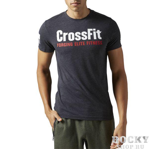 Спортивная футболка Reebok CrossFit Forging Elite Fitness ReebokФутболки<br>Спортивная футболка Reebok CrossFit Forging Elite Fitness. Уход: машинная стирка в холодной воде, деликатный отжим, не отбеливать. &gt;<br><br>Размер INT: M