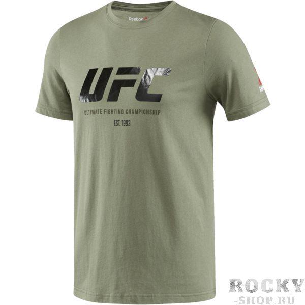 Спортивная футболка Reebok UFC ReebokФутболки<br>Спортивная футболка Reebok UFC. Официальная футболка UFC и Reebok. Уход: машинная стирка в холодной воде, деликатный отжим, не отбеливать.<br><br>Размер INT: S