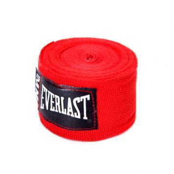 Бинты боксерские Everlast MMA,  2.5 метра, 2,5 метра EverlastБоксерские бинты<br>Эластичный бинт, разработанный специально под перчатки для Смешанных Боевых Искусств (MMA). Бинт сделан из сочетания нейлоновых и полиэстеровых нитей, что позволяет руке дышать и гарантирует безопасность во в ходе занятий спортом. Специальная антимикробная пропитка уничтожает вредоносные бактерии, борясь с плохими запахами и увеличивая время жизни вашей экипировки. Длина 100 дюймов (2,54 метра), можно подвергать машинной стирке.<br><br>Цвет: красные