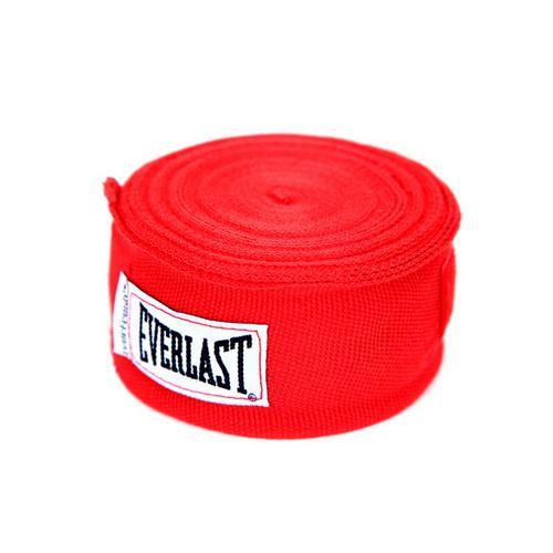 Бинты боксерские Everlast, 4.5 метра, 4,5 метра EverlastБоксерские бинты<br>Эластичный бинт, разработанный для боксерских перчаток. Изготовлен из сочетания нейлона и полиэстера, что гарантирует безопасность и дыхание рук во в ходе занятий спортом. Специальная антимикробная пропитка EverFresh™ уничтожает вредные бактерии и сражается с плохими запахами, сохраняя свежесть и продлевая время жизни вашей экипировки. Фиксатор большого пальца вместе с застежкой на липучке обеспечивают защиту и простоту использования. Длина 180 дюймов (около 4. 5 метров), можно подвергать машинной стирке.<br><br>Цвет: красные