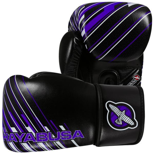 Купить Перчатки боксерские Hayabusa Ikusa Charged 10oz Gloves-Black/Purple 10 унций (арт. 15146)