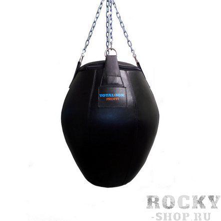 Груша боксерская TOTALBOX бочка, кожа, 25 кг, 35х70см AquaboxСнаряды для бокса<br>натуральная кожа (KRS);цвет: чёрный;высота - 70 см;диаметр - 35/50/36 см;вес - 25 кг<br>Груша для бокса в форме бочки – неотъемлемый атрибут спортзала и отличный снаряд для освоения контактного боя. Несмотря на небольшие размеры и вес, выдерживает атаки руками, ногами. Цепи, присоединенные при помощи кожаных ремней, позволяют поместить снаряд на любой высоте.<br>
