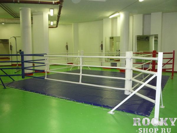 Ринг напольный TOTALBOX на упорах 5х5м AquaboxОборудование для залов и клубов<br>Размер по канатам - 5х5 м. Объем в разобранном виде 2,5 м3. Вес 300 кг. <br>Ринги TOTALBOX сделаны в соответствии с требованиями и правилами Международной федерации бокса и Федерации бокса России. Такие ринги отлично подойдут для проведения тренировок, а так же соревнований любого уровня. <br><br>Особенностью рингов напольных на упорах является то, что он удобный, занимает немного места и простой в применении. Если у Вас есть небольшой спортзал, то такой ринг Вам подойдет. Плюсами ринга на упорах является то, что у него небольшая монтажная площадь по сравнению с другими, а упоры ринга не выходят за пределы канатов. <br><br>В комплектацию входят: уголовные стойки – 4 шт. , упоры к стойкам – 8 шт. , натяжные канаты, уголовные подушки, мягкий настил, покрытие ринга. <br><br>Для вашего удобства производитель предлагает большой выбор цветов для покрытий рингов, также по вашему желанию можно нанести любой логотип и надпись.<br>