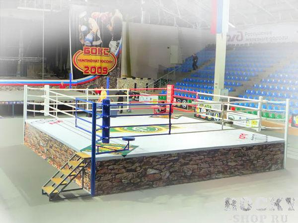 Ринг соревновательный TOTALBOX на помосте 1 метр, 6х6 м Aquabox
