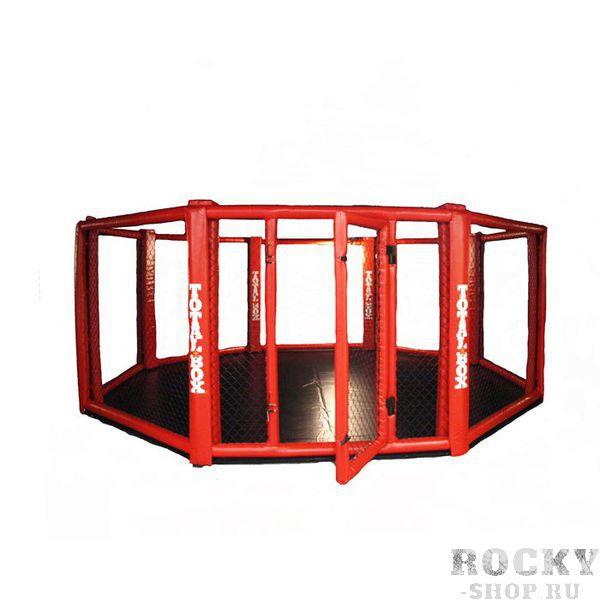 Восьмиугольный ринг TOTALBOX (клетка ММА) напольный, 5 м AquaboxРинги ММА<br>Диаметр 5 м. Объем в разобранном виде 7,3 м3. Вес 910 кг. <br>Восьмиугольный ринг разработан для проведения тренировок и соревнований по ММА, боев без правил и других видов единоборств. Главное требование к «восьмиугольникам» – обеспечить безопасность спортсменов. <br><br>Ринг клетка представляет собой конструкцию, которая состоит из восьми секций соединенных между собой болтами. Каркас секций изготовлен из стальных труб. Конструкция монтируется на ровное твердое покрытие. <br><br>Отличительной чертой данной конструкции считается простота и быстрота сборки. Внутри каркаса натягивается сетка. Маты ППЭ укладываются внутри ринга на ровное твердое покрытие. Сверху матов натягивается покрышка из ткани ПВХ. Две противоположных секции имеют поворотные петли и служат входами на помост. <br><br>Все металлические детали внутри ринга «восьмиугольника» имеют мягкую защиту, не допуская травм спортсменов при контакте с ними.<br>