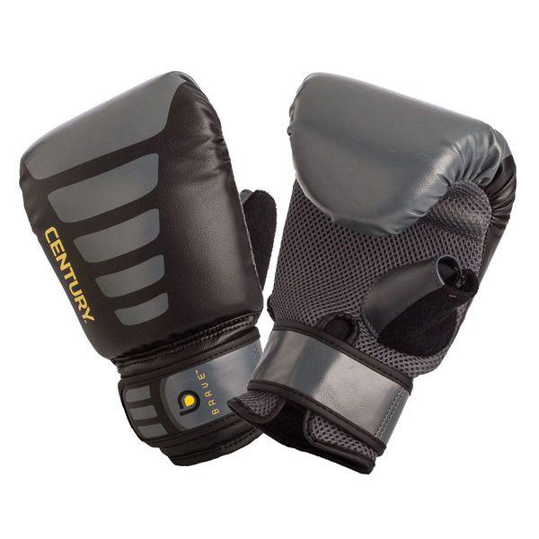 Перчатки снарядные CENTURY CenturyCнарядные перчатки<br>Эти снарядные перчатки созданы для начинающих спортсменов и подходят для продолжительных тренировок. Перчатки выполнены из износостойкого полиуретана с многослойным вспененным наполнителем, на большом пальце вставка из махровой ткани, впитывающая пот; перемычка внутри перчатки помогает правильно держать кулак.<br><br>Размер: L/XL