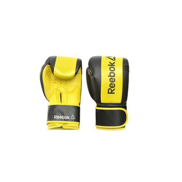 Перчатки боксерские Reebok Retail Boxing Gloves - Yellow, 12 oz Reebok