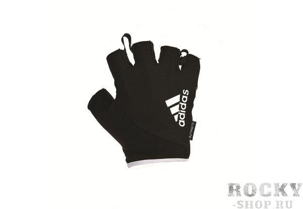 Перчатки для фитнеса Adidas, черный/белый AdidasПерчатки для фитнеса<br>Перчатки для комфортныхзанятий фитнесом. Эластичные, легкие и эргономичные перчатки обеспечивают защиту и усиливают захват при тренировках с весами или с другим оборудованием для фитнеса.<br><br>Размер: L
