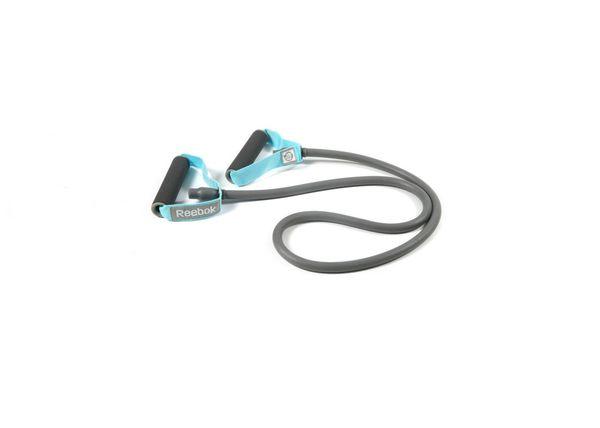 Эспандер трубчатый Reebok Heavy ReebokЭспандеры<br>Тренируйте любую группу мышц легко и эффективно с трубчатым эспандером Reebok. Удобные рукоятки, три сменных уровня нагрузки (приобретаются отдельно); эспандер позволяет одновременно задействовать различные группы мышц. Легкий и ёмкий элемент тренировочного оборудования, предлагающий множество возможных упражнений, для всего тела, подходит для домашних тренировок. Трубчатый эспандер для женщин также доступен в среднем и слабом сопротивлении для тренировок разной интенсивности.<br>